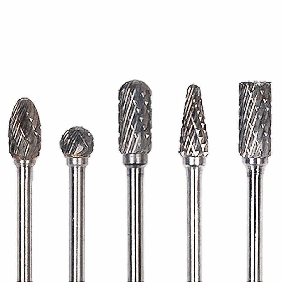 10pcs/Set Dremel Carbide Burrs Drill Bit Set Rotary Burr Micro Drill Bits  for Metal Woodworking Carving Tool Glass Diamond