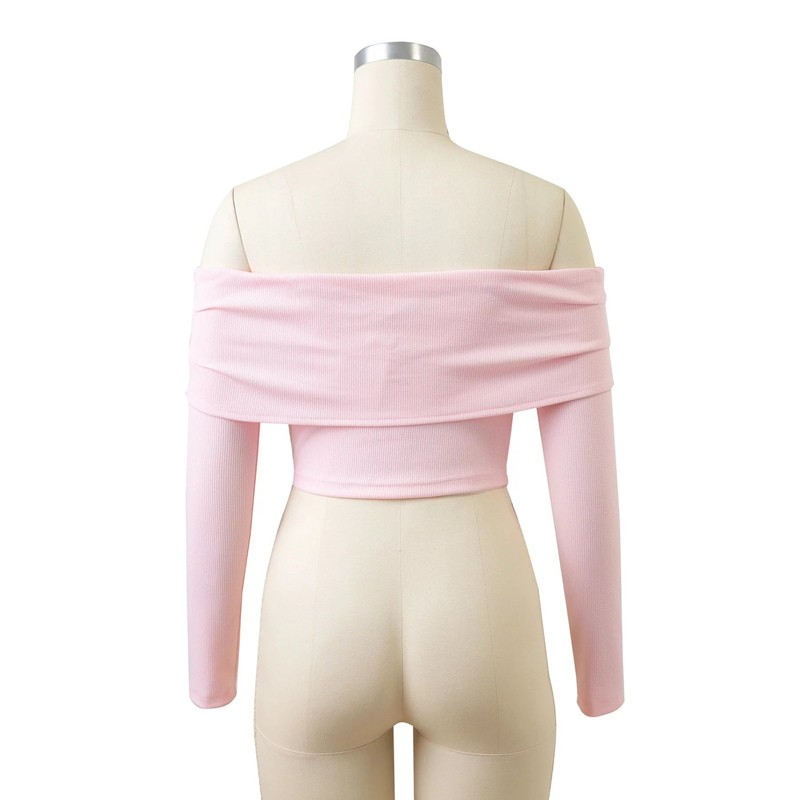 HTB1id.BOFXXXXaeXVXXq6xXFXXXW - Women Slash Neck Off Shoulder Crop Top Long Sleeve Sexy JKP024