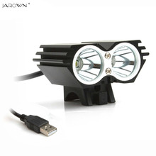Bicycle Light X2 CREE XM-L T6 5000Lumen  Waterproof Led Head light Lamp  Bike lights USB Head Light Lamp (not including battery)