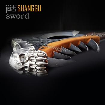 World of Warcraf Grom Hellscream Gorehowl Tribal warriors Warsong Clan Roar of blood Tomahawk Sword 3