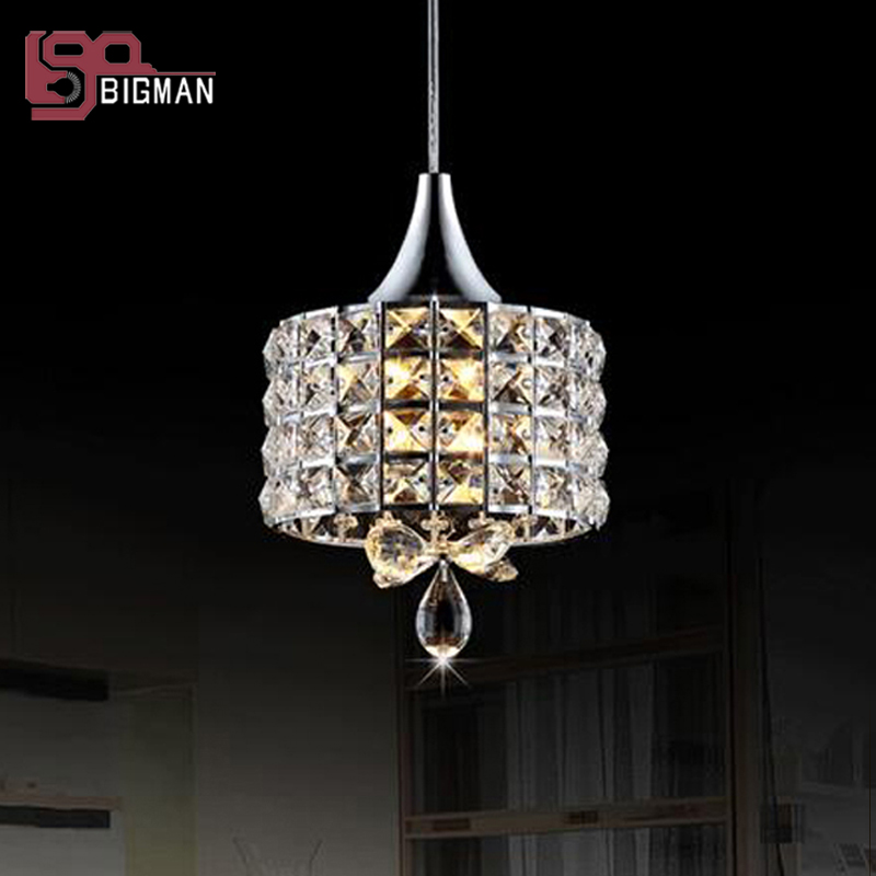new brief style crystal pendant light modern chrome luminaire suspendu dinning room lighting bar lights  E14 lamp egypt imported crystal 8 light pendant lights in ball shape chrome pl1040