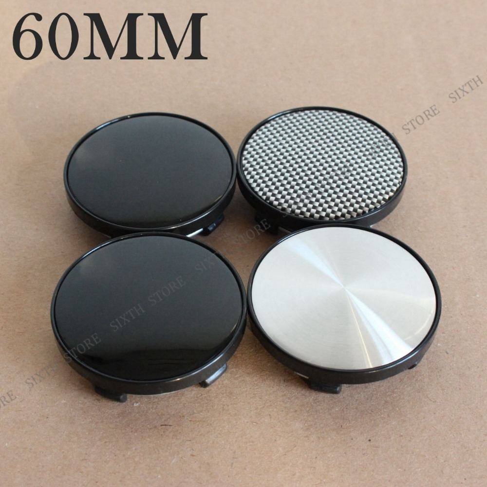 KOM POWER 4PCS 60MM Wheel Blank Cap Wheel Center Caps Wheel Hubcap No Emblem Sticker No logo Caps For Wheels Cover Caps