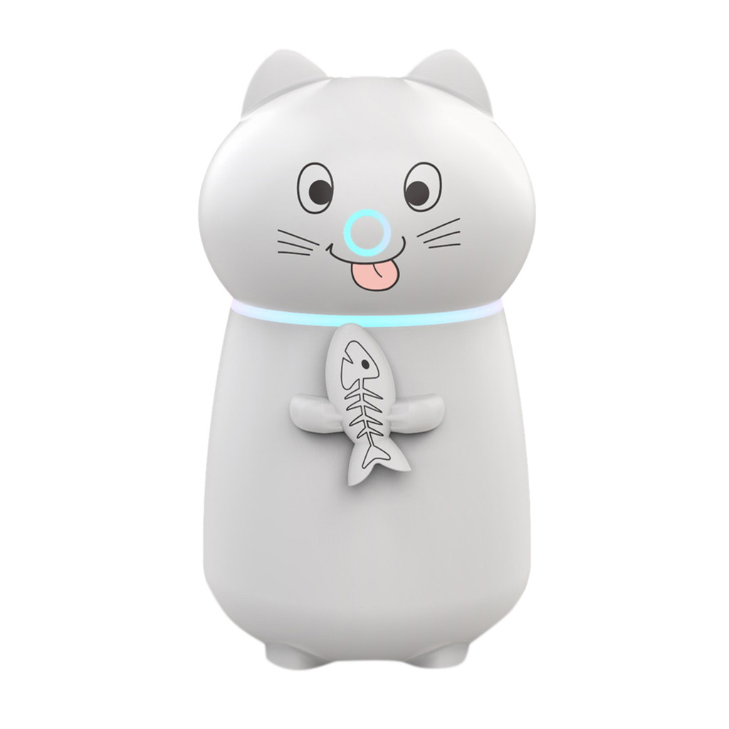 Cute Cat 3 In 1 Humidifier 180ML LED Quemador Incienso Humidifier Air Fan Essential Oil Diffuser Purifier Atomizer Car Home Room in Incense Incense Burners from Home Garden