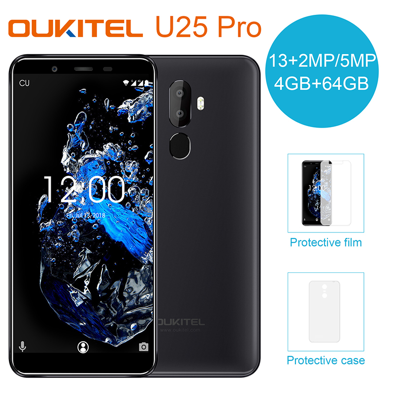 Oukitel U25 Pro 5.5 Inch Android 8.1 4GB RAM 64GB ROM Moblie Phone MTK6570T Octa Core cellphones 3200mAh Type C 4G Smartphone