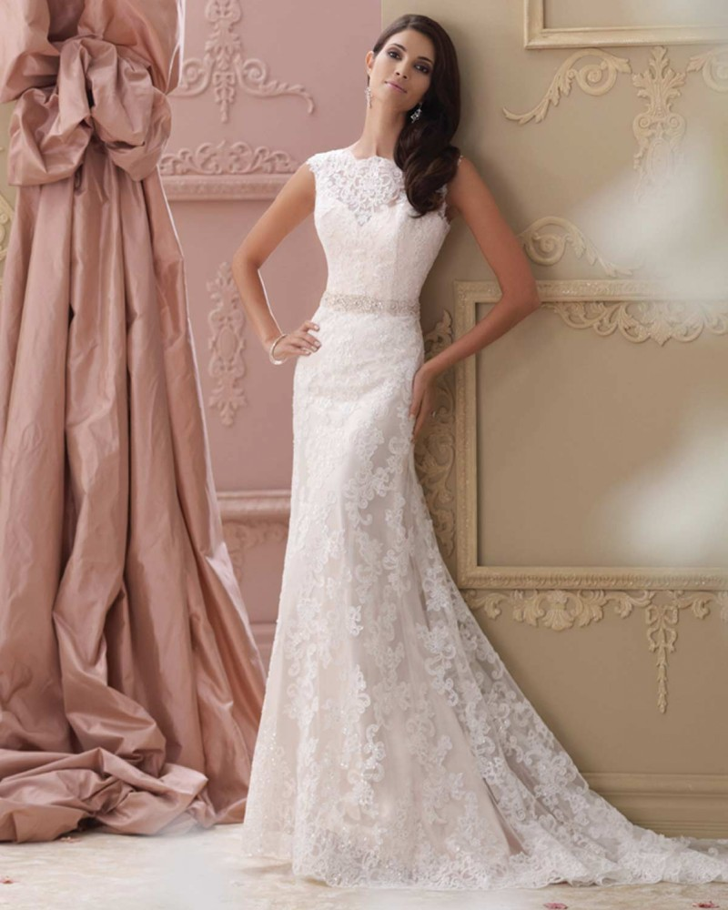 Aliexpress Enchanting New Arrival V Back Sheath Wedding Dress White Beaded Lace Asamento Bridal Gown 2017 Robe De Mariage Vestido Noiva From