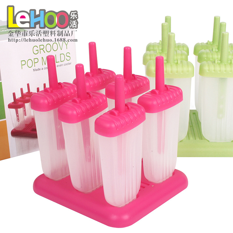 6Pcs Ice Cream Popsicle Molds Cooking Tools Baking Moulds Rectangle Shaped Reusable DIY  ...