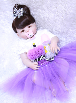 bebe reborn 55cm New Full Body Silicone Reborn Baby Doll Toys Newborn Girl Baby Doll Christmas Gift Birthday Gift Bathe Toy
