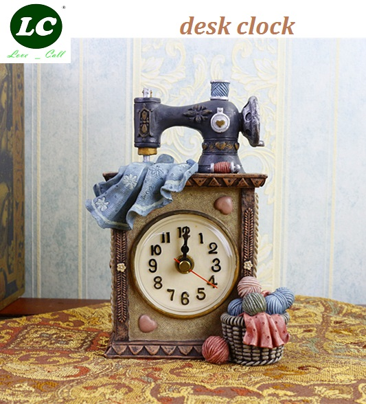 classic clock desk clock sitting room office table clock Mute pendulum children/student art gift originality handcraft