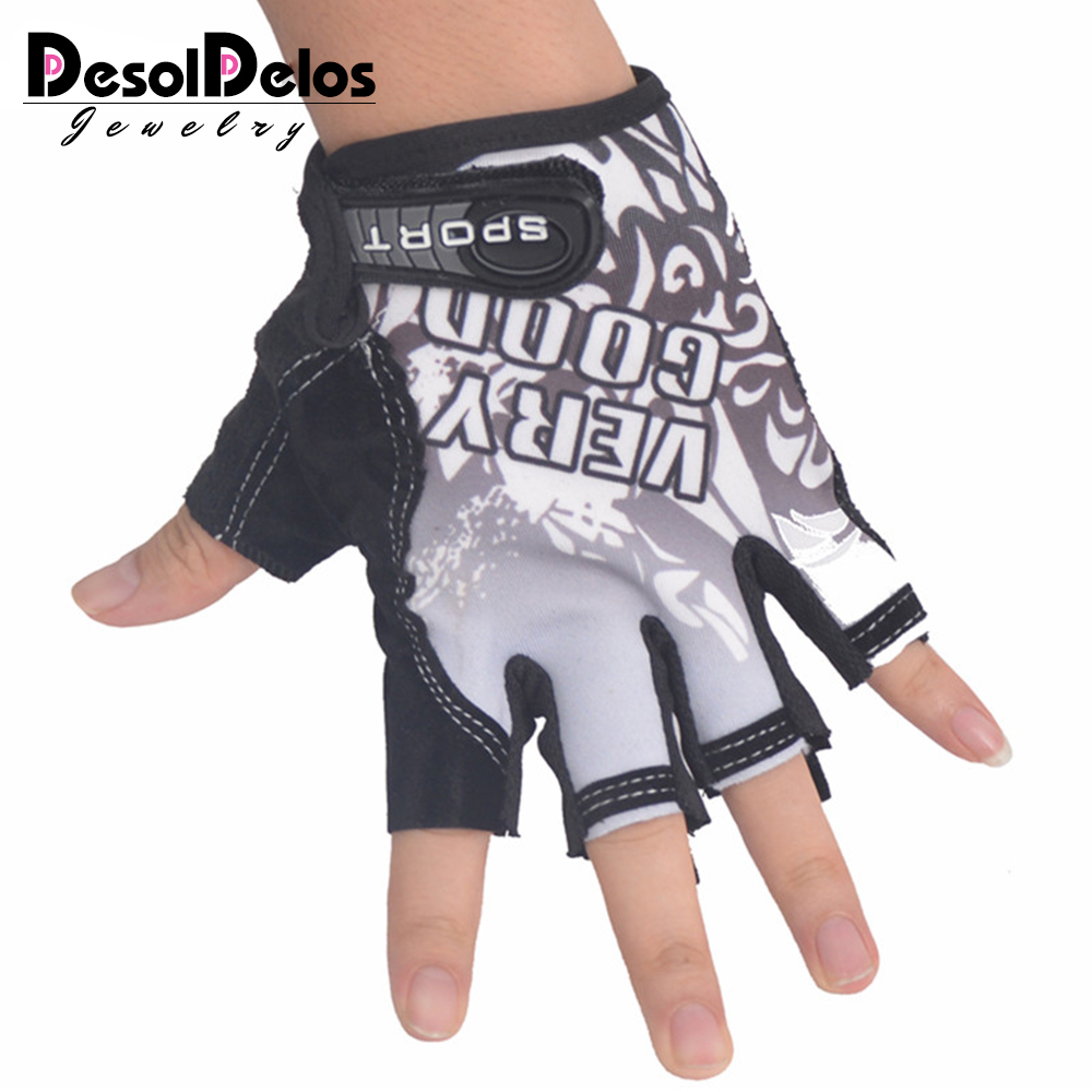 Desoldelos Classic Sports Gloves Semi-finger Outdoor Mittens Very Good Letters Fingerless Gloves Gym Men Women Work Out Guantes