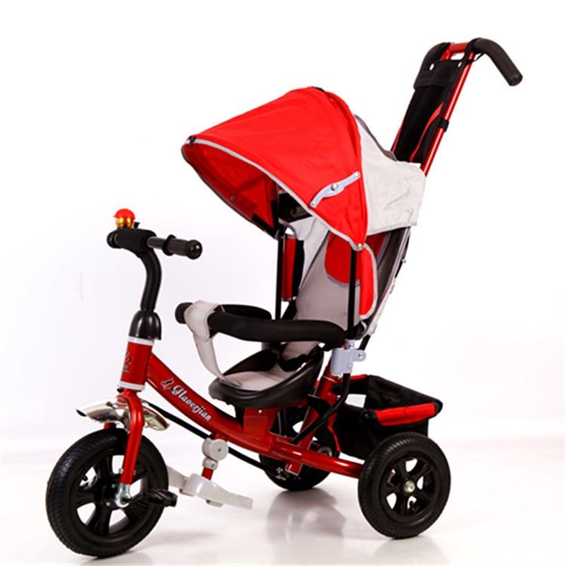 все цены на Ultifunctional children's tricycle baby bicycle rotating seat 1-3-5 kids bike онлайн