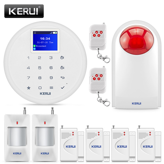 KERUI G17 Wireless GSM SMS Burglar Alarm System IOS Android APP Remote Control Home Water leakage Security Protection Kit Alarm