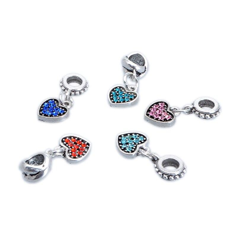 ec15ccd68562 Corazón de la cereza Boxeo búho hueso encanto grande cristalino del agujero  Colgantes DIY injertos cuentas silvering joyería Accesorios fit collar  pulsera