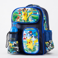 Pokemon Go Monster Pikachu Boys Girls School Bag Book Bag Backpack Mochila Gift Back to School Cartoon Children With Bottle