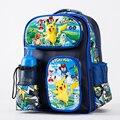 Vá monstro pikachu pokemon meninos meninas saco de escola saco de livro mochila mochila presente back to school crianças dos desenhos animados com garrafa