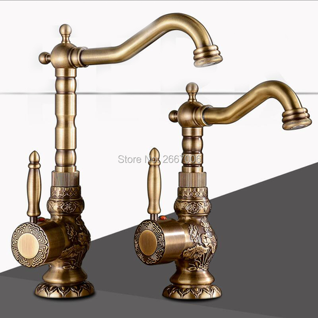 Aliexpress.com : Buy Free Shipping antique style bathroom faucets ...