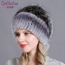 qiuchongfan Hat for Women 100% Real Rex Rabbit Fox Fur Hat Rex Rabbit Fur Caps lady winter warm Headwear free shipping все цены
