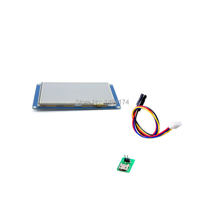 "WQScosea Q8S-202 Nextion 5""  5.0 Inch TFT Touch Screen UART HMI Intelligent Smart LCD Module Display Panel For Raspberry Pi"