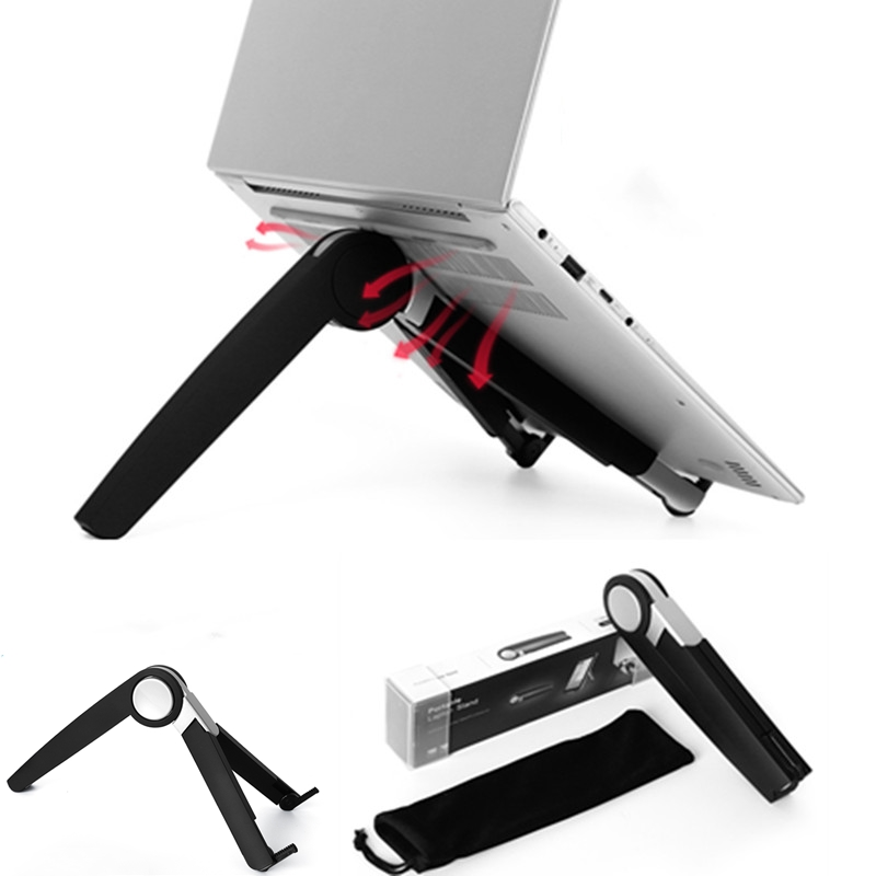 Portable Holder for iPad Aluminum Mounting bracket for tablet laptop Foldable Ergonomic stand for iPhone for ipad pro 12 9 Air3 in Tablet Stands from Computer Office