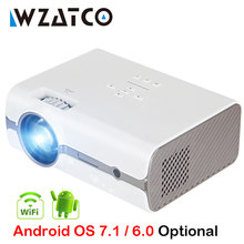 WZATCO CT68S 2500lumen Tragbare LED TV Projektor HDMI Beamer Android OS Wifi für Home theater Unterstützung Full HD 1080P 4K(China)