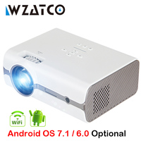 WZATCO CT68S 2500lumens Portable LED TV Projector HDMI Beamer Android OS Wifi for Home theater Support Full HD 1080P 4K
