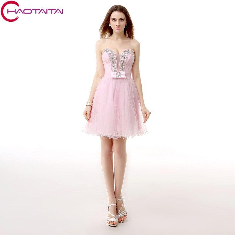 A Line Homecoming Dresses Tulle Sheer <font><b>V</b></font> Neck Zipper Crystal Beads Off The Shoulder Sequins Mini Length Custom Made