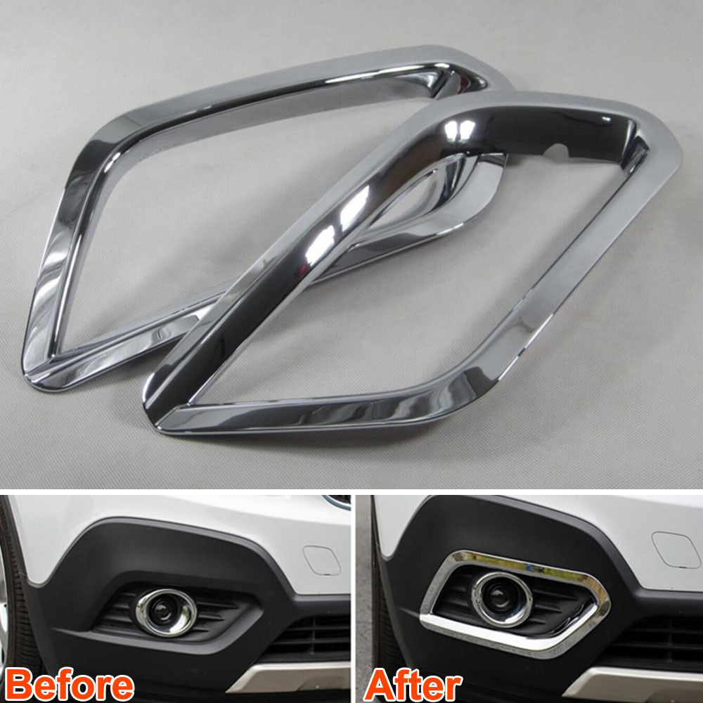 2x Auto Car Styling Front Foglight Cover Fog Light Lamp Frame Cover Trim Moulding Sticker Fit For Buick Encore Car Accessories