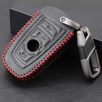 3 botones cuero control remoto de coche funda carcasa para BMW M1 M2 M3 F05 F10 F20 F30 335 328 535 650 740 Protector de piel