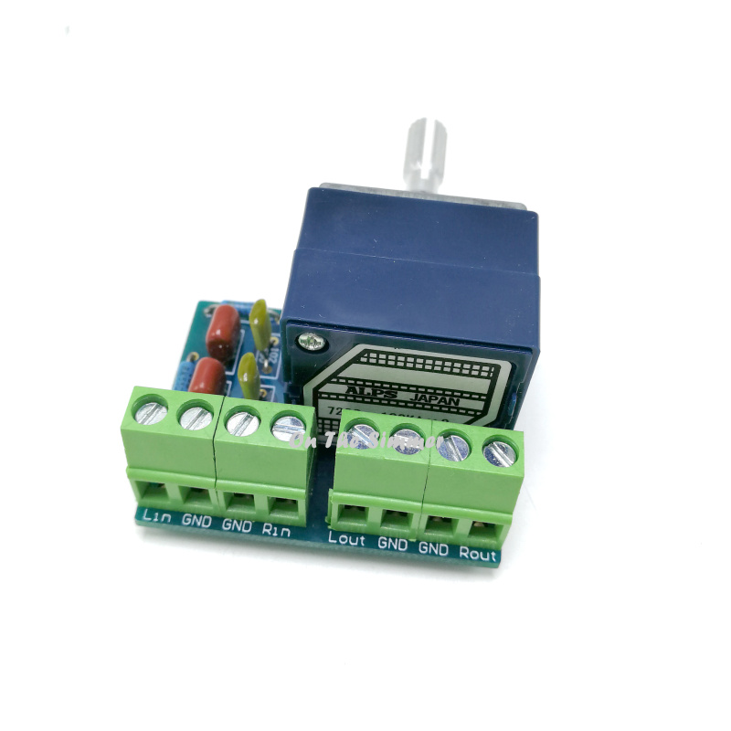 Image 3 - ALPS blue shell 27 type 100K RC loudness volume potentiometer circuit board JCDQ32P-in Tool Parts from Tools