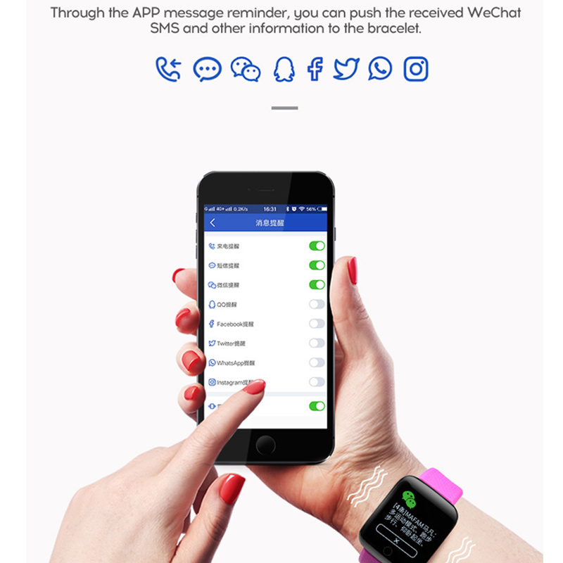 2019 Men Blood Pressure Waterproof Women Fitness For Android IOS