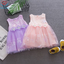 Herbabe Baby Girl Dress for Newborn Kids Cute Flowers Stars Baby Girls Party Formal Dresses Princess Ball Gown Birthday Dress db5214 dave bella summer baby girls princess dress child flowers dress kids ball gown dress children dress baby lolita costumes