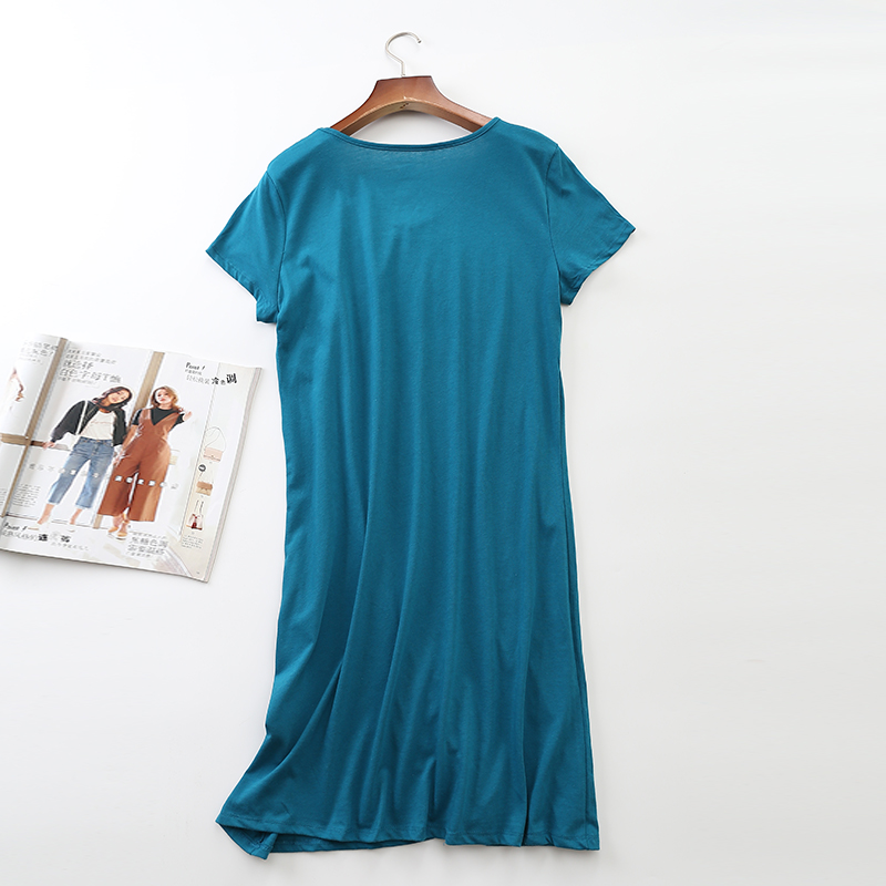 Black Loose Sleepwear Dress Women Sheer Chemise Nightdress 100 ... 43cda8574ad0