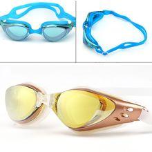 Plating Waterproof Swimming Goggles 6100 New Adjustable UV P