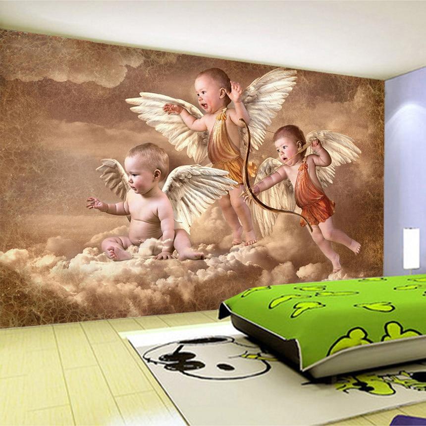 Custom Mural Wallpaper European Style Living Room Bedroom Kids Room Background Wall Decoration Painting Wallpaper Little Angel