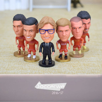 6PCS Display Box Soccer LIV Player Star Figurine 2 5 Action Doll Classic Version The Fans
