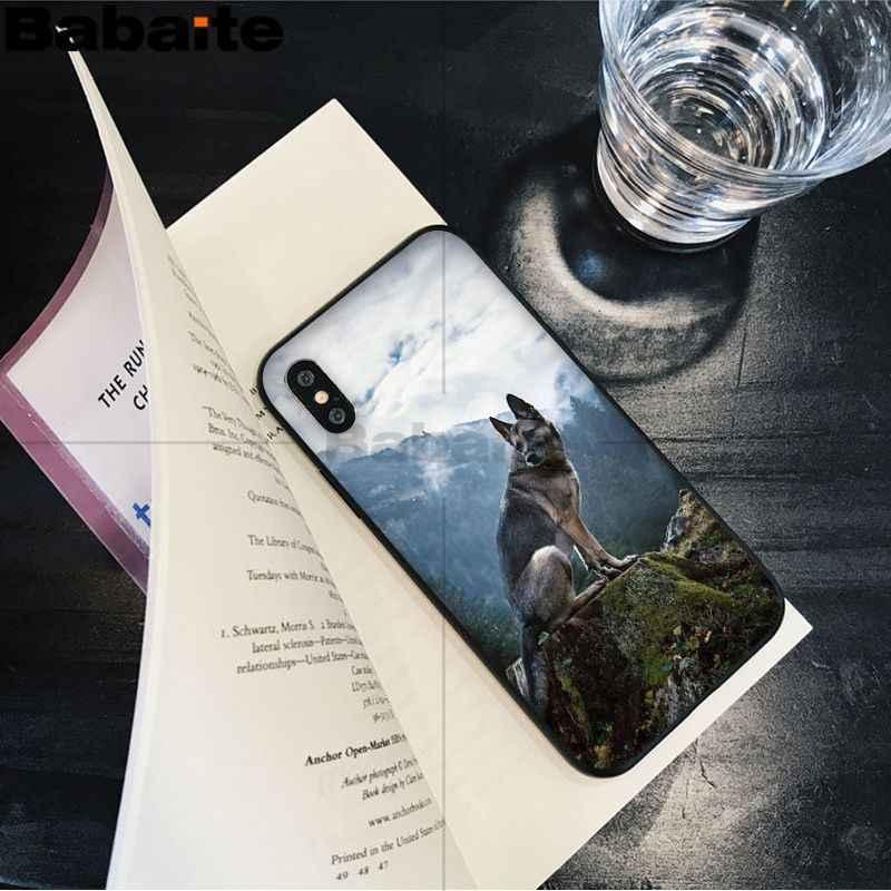Anjing Gembala Jerman Pelanggan Kasus Telepon Berkualitas Tinggi untuk Apple iPhone 8 7 6 6S Plus X XS MAX 5 5S SE XR Cover 12 Mini 12ProMax