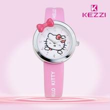Free Shipping Kezzi Kids Watches K446 Quartz Analog Cartoon Bear Leather Strap Wrist Watch Boys Girls Waterproof Wristwatches