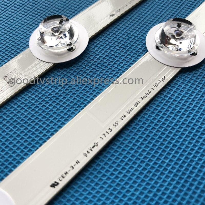 New Kit 12 PCS LED backlight strip for LG 55LB7200 55 V14 Slim DRT LC550D