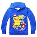 Pokemon ir crianças encabeça roupas meninos hoodies crianças unisex manga longa com capuz camisolas clothing menina camisolas k011707 vetement