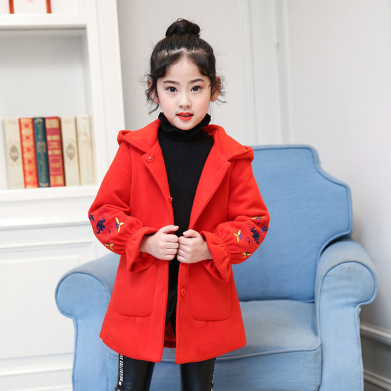 2018 Autumn Winter Jackets For Girls Coats Kids Jacket Children Warm Hooded Outerwear Coats For Girls Clothes 4 6 8 10 12 Years