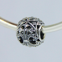 Openwork Fleur De Lis Beads DIY Fits For Pandora Bracelets Free Shipping New 100 925 Sterling
