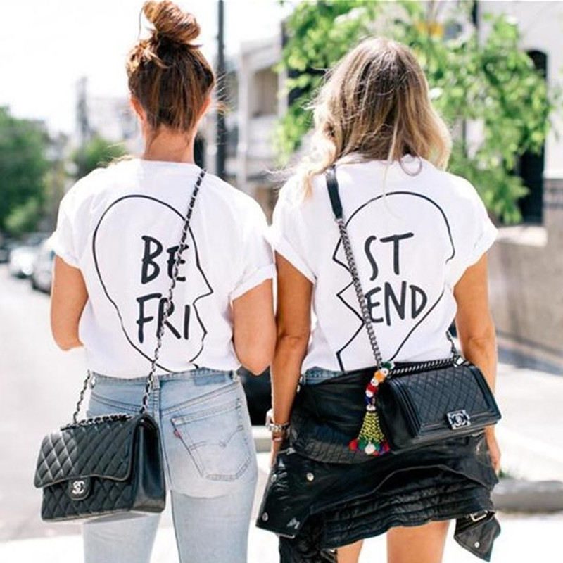 Best Friends T Shirt 2016 Fashion Women T shirt Cotton Tshirts ...