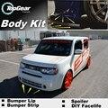 Bumper Lip Spoiler Delantero Deflector Para Nissan Cube Z11 Z12 Z10 Falda para TopGear Amigos a Ver Coches Tuning/Kit de Carrocería/Strip