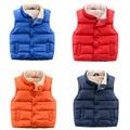 Children's Vest for girls Cotton Thicken Winter Fleece Jacket Vest Kids Waistcoat infantil menina kids Down coat Vest Ins HOT