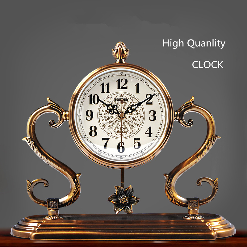 2018 New Desk Alloy Clock European And American Bedroom Home Decoration Livingroom Mens Gift Clock