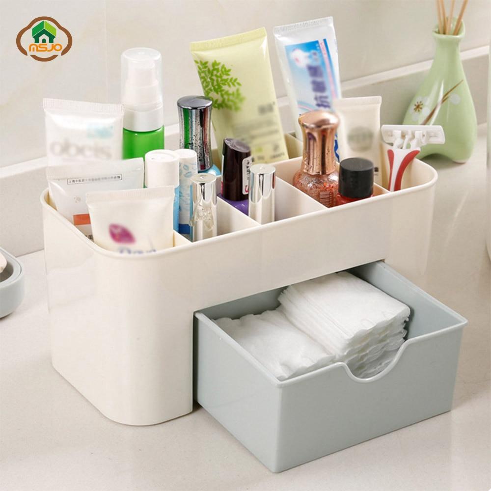 Msjo Maquillaje Organizador Caja Collar de Joyas Pendiente de Esmalte - Organización y almacenamiento en la casa