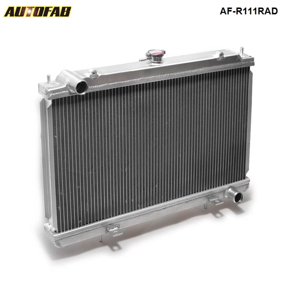 89-94 240SX S13 SR20 SR20DET Manual Aluminum Racing Radiator 2 Row Dual Rows MT