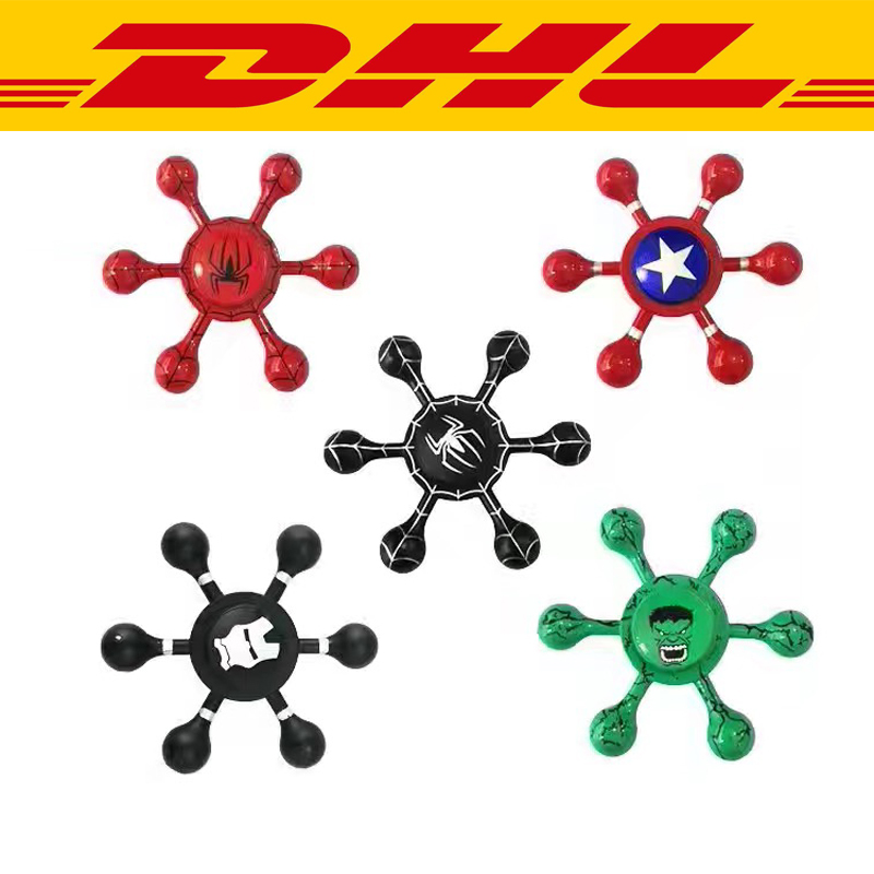 2017 New 100pcs mixing Colorful Aluminium Metal Tri Hand Fidger Spinner Anti Stress Relief Toys Gift Autism ADHD EDC gift