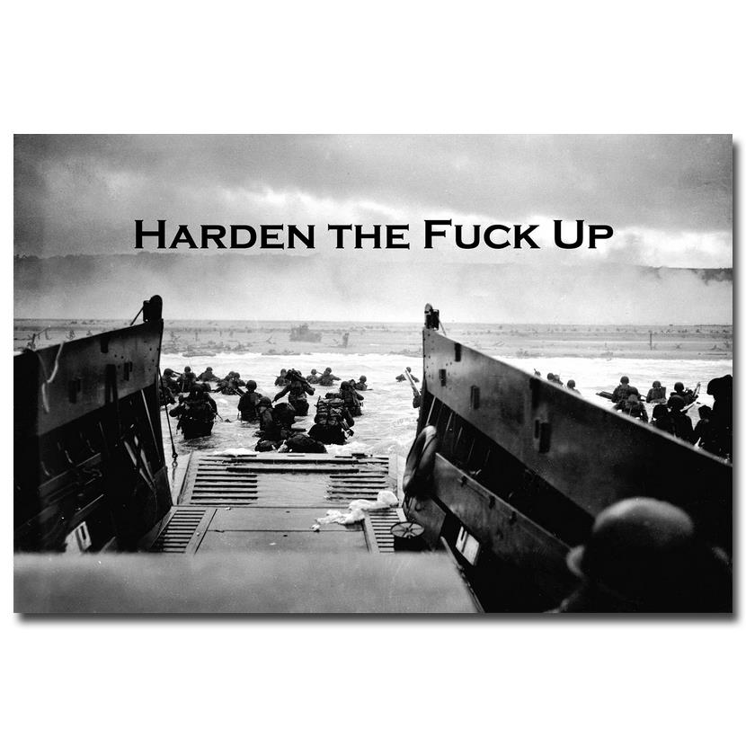 Harden - Military Motivational Quote Education Art Silk Poster Print 12x18 20x30 24x36 Modern Home Office Decor 052 image