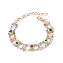 EVIL EYE 1pcs new fashion  eye gold bracelet trendy round eye gold braclet for woman man jewelry gift