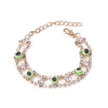 EVIL EYE 1pcs new fashion eye gold bracelet trendy round eye gold braclet for woman man